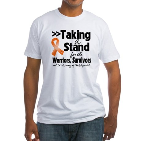 Stand Kidney Cancer Fitted T-Shirt