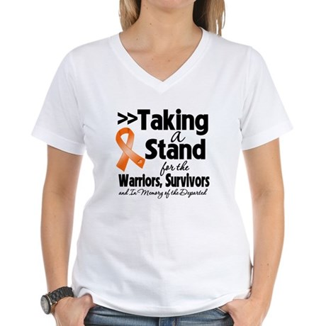 Stand Kidney Cancer Women's V-Neck T-Shirt