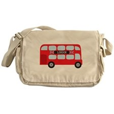 London Double-Decker Bus Messenger Bag