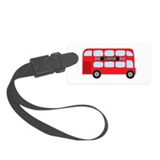London Double-Decker Bus Small Luggage Tag