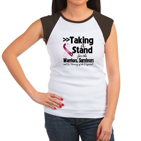 Stand Head Neck Cancer Women's Cap Sleeve T-Shirt