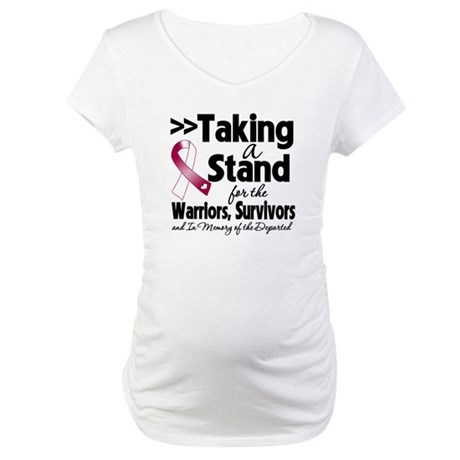 Stand Head Neck Cancer Maternity T-Shirt
