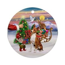 Treat for a Basenji Ornament (Round)