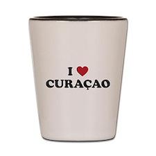 I Love Curacao Shot Glass