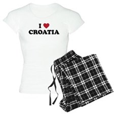 I Love Croatia Pajamas