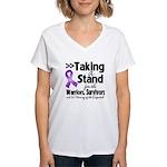 Stand GIST Cancer Women's V-Neck T-Shirt