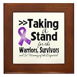Stand GIST Cancer Framed Tile