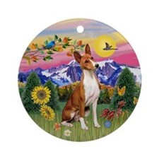 Mountain Country Basenji Ornament (Round)