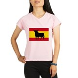 Spain Bull Flag Performance Dry T-Shirt