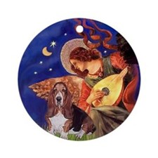 Angel3 - Basset Hound Ornament (Round)