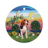 Bright Country - Beagle Ornament (Round)