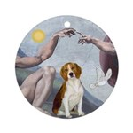 Creation - Beagle Ornament (Round)