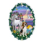 Magical Night &amp; Beagle Ornament (Oval)