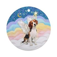 Clouds3 - Beagle Angel Ornament (Round)