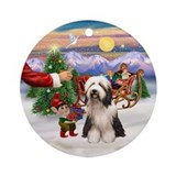 Treat for a Bearded Collie (#1) Ornament (Round)