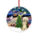 XmasMagic - Bearded Collie (#10) Ornament (Round)