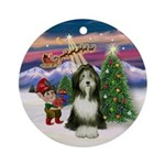Take Off - Bearded Collie (#9) Ornament (Round)