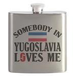 Somebody In Yugoslavia Flask