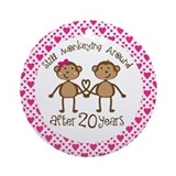 20th Anniversary Love Monkeys Ornament (Round)