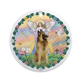 Blessings - Belgian Tervuren Ornament (Round)