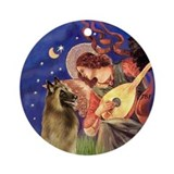 Angel3 - Belgian Tervuren Ornament (Round)
