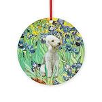 Irises - Bedlongton Terrier Ornament (Round)