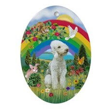 Rainbow - Bedlington Terrier Ornament (Oval)