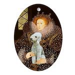Queen Eliz. I - Bedlington Terrier Ornament (Oval)