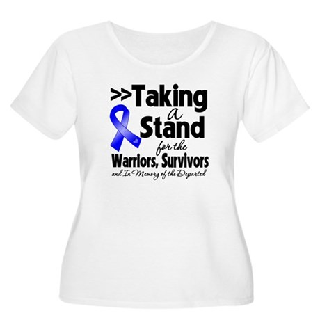 Stand Colon Cancer Women's Plus Size Scoop Neck T-