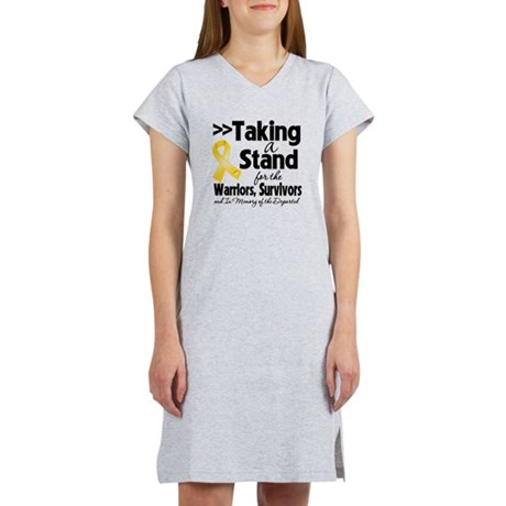 Stand Childhood Cancer Women's Nightshirt