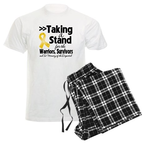 Stand Childhood Cancer Men's Light Pajamas