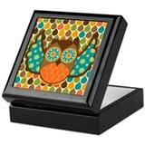 Owl Boheme Brown Keepsake Box