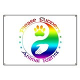 Please Support Animal Rights Banner