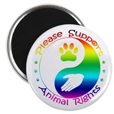 "Please Support Animal Rights 2.25"" Magnet (100 pac"