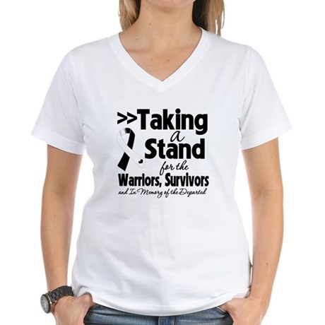 Stand Carcinoid Cancer Women's V-Neck T-Shirt