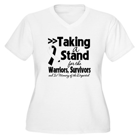 Stand Carcinoid Cancer Women's Plus Size V-Neck T-