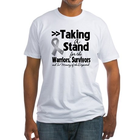 Stand Brain Cancer Fitted T-Shirt
