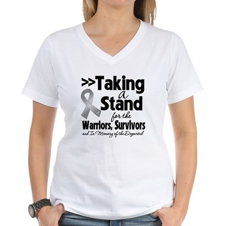 Stand Brain Cancer Women's V-Neck T-Shirt