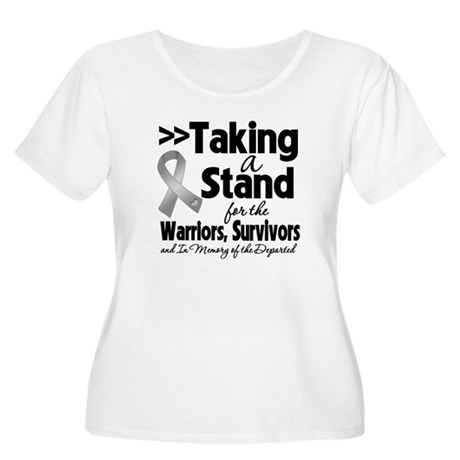 Stand Brain Cancer Women's Plus Size Scoop Neck T-