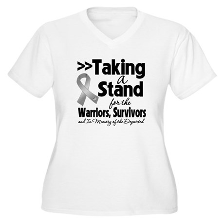 Stand Brain Cancer Women's Plus Size V-Neck T-Shir