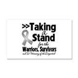 Stand Brain Cancer Car Magnet 20 x 12