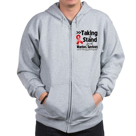 Stand Blood Cancer Zip Hoodie