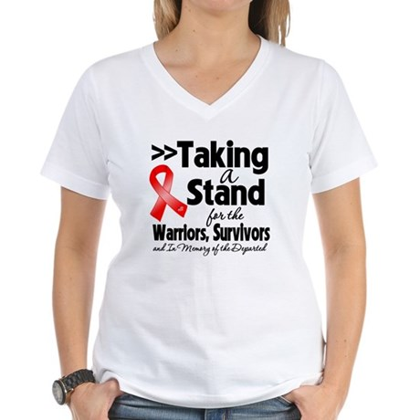Stand Blood Cancer Women's V-Neck T-Shirt
