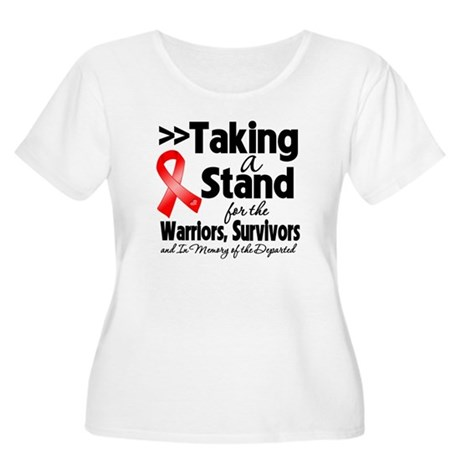 Stand Blood Cancer Women's Plus Size Scoop Neck T-