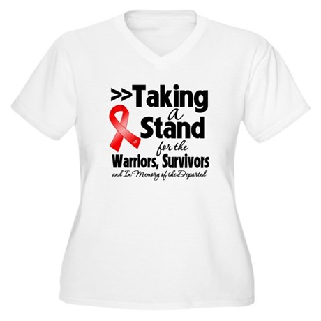 Stand Blood Cancer Women's Plus Size V-Neck T-Shir