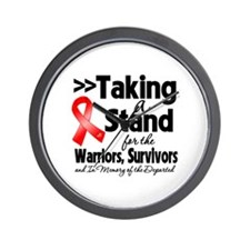 Stand Blood Cancer Wall Clock