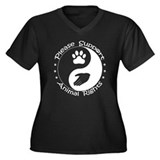 Please Support Animal Rights Women's Plus Size V-N