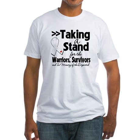 Stand Bone Cancer Fitted T-Shirt