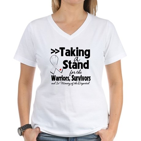 Stand Bone Cancer Women's V-Neck T-Shirt