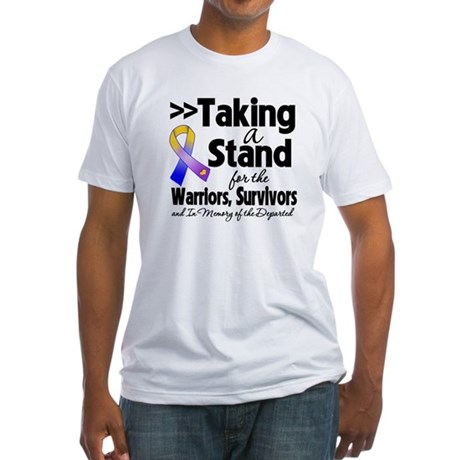 Stand Bladder Cancer Fitted T-Shirt